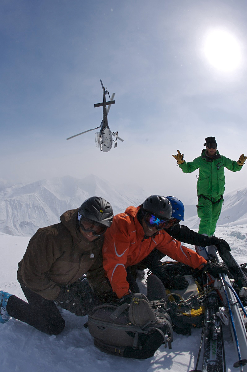 heli-skiing with your kids, family heliskiing
