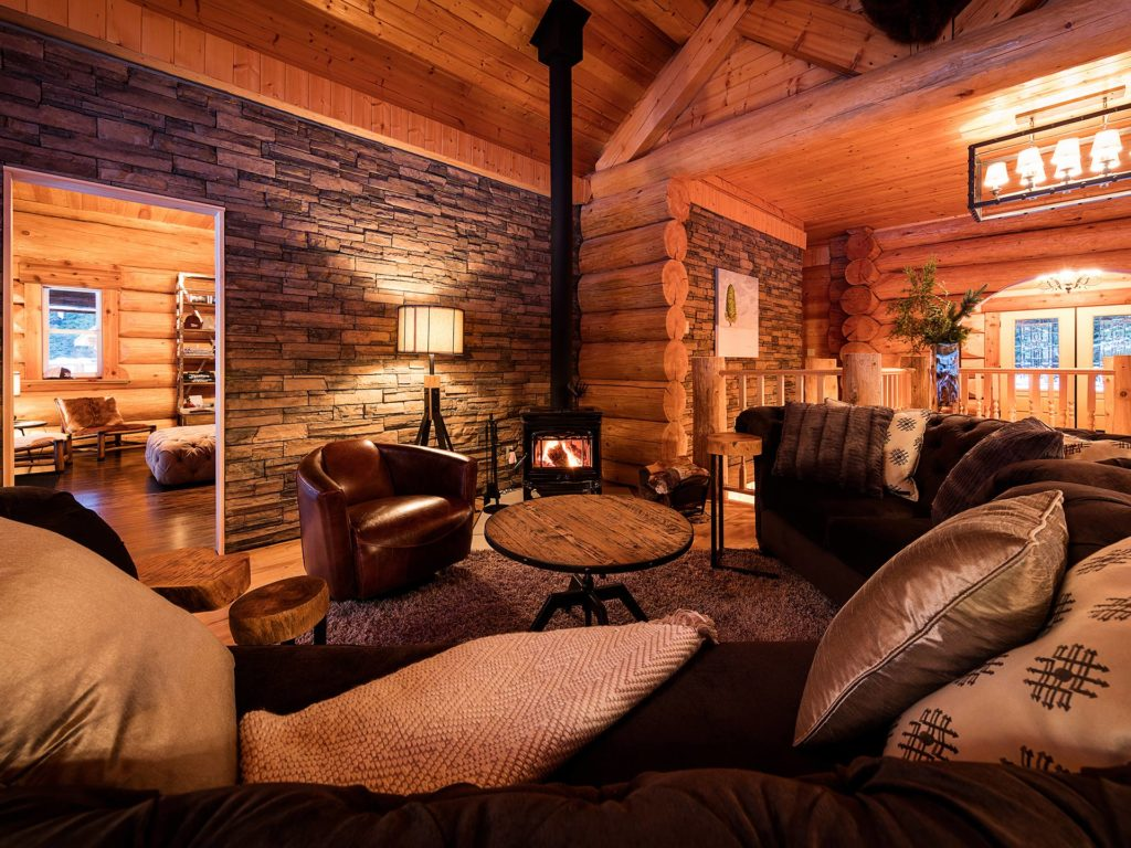 white wilderness heliskiing lodge interior